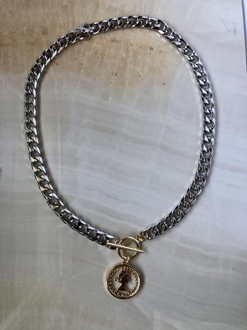 Колье Маруа, позолота и серебряный цвет