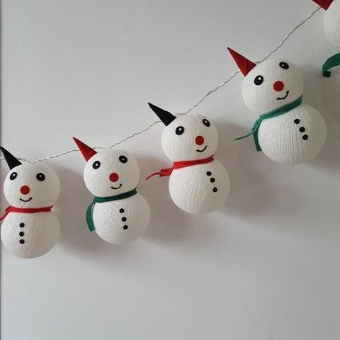 Тайская гирлянда снеговики
