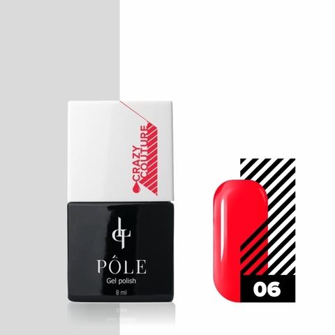 Гель-лак POLE Crazy couture №06 - эффектный красный (8 мл.)