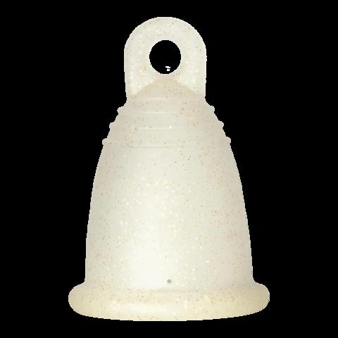 Менструальная чаша MeLuna SOFT (M) – прозрачная с блестками