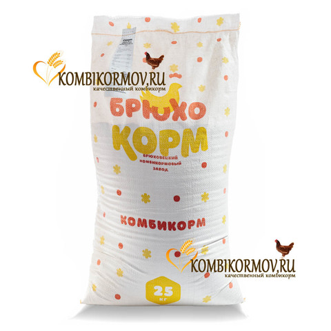 Кoмбикорм для молодняка кур в возрасте 0-7 недель Старт ( Брюхокорм, Краснодарский край )