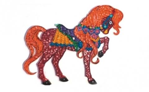 Квиллинг Яркая лошадь/М-8017
