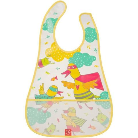 Нагрудник Happy Baby на липучке Waterproof Baby Bib Yellow Duck – купить в Казахстане