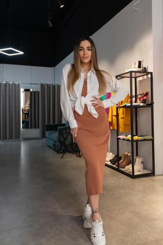 Платье-комбинация с рубашкой сверху Nadya
