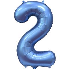 К Цифра, 2, Синий, Сатин, 34''/86 см, в упаковке 1 шт.