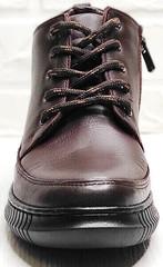 Демисезонные ботинки женские на шнуровке Evromoda 535-2010 S.A. Dark Brown.