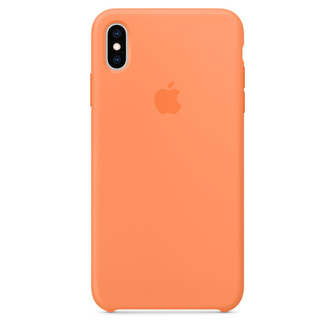 Чехол iPhone XR Silicone Case /papaya/ папая 1:1