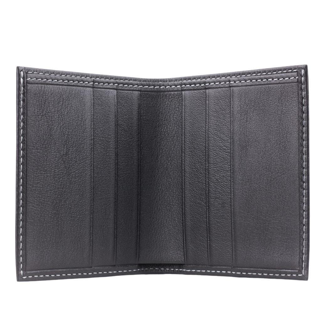 Портмоне мужское Carre Easy из натуральной кожи теленка, черного цвета