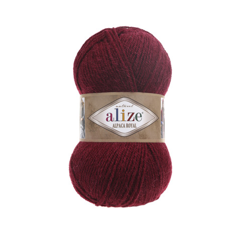 Пряжа Alize Alpaca Royal бордо 57