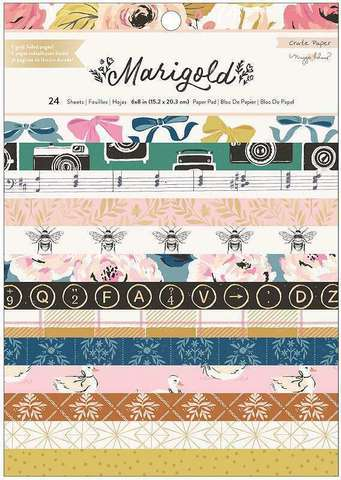 Набор бумаги 15х20см Maggie Holmes Marigold by Crate Paper -24л