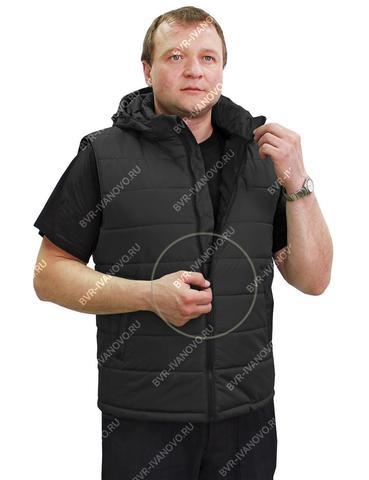 Жилет утеплённый стёганный Сталкер Чёрный АКЦИЯ