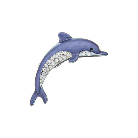 Брошь Дельфин FAN-07385.21 BL/S