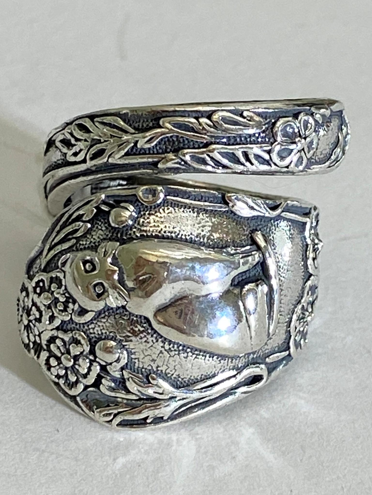 Кошечка (серебряное кольцо)