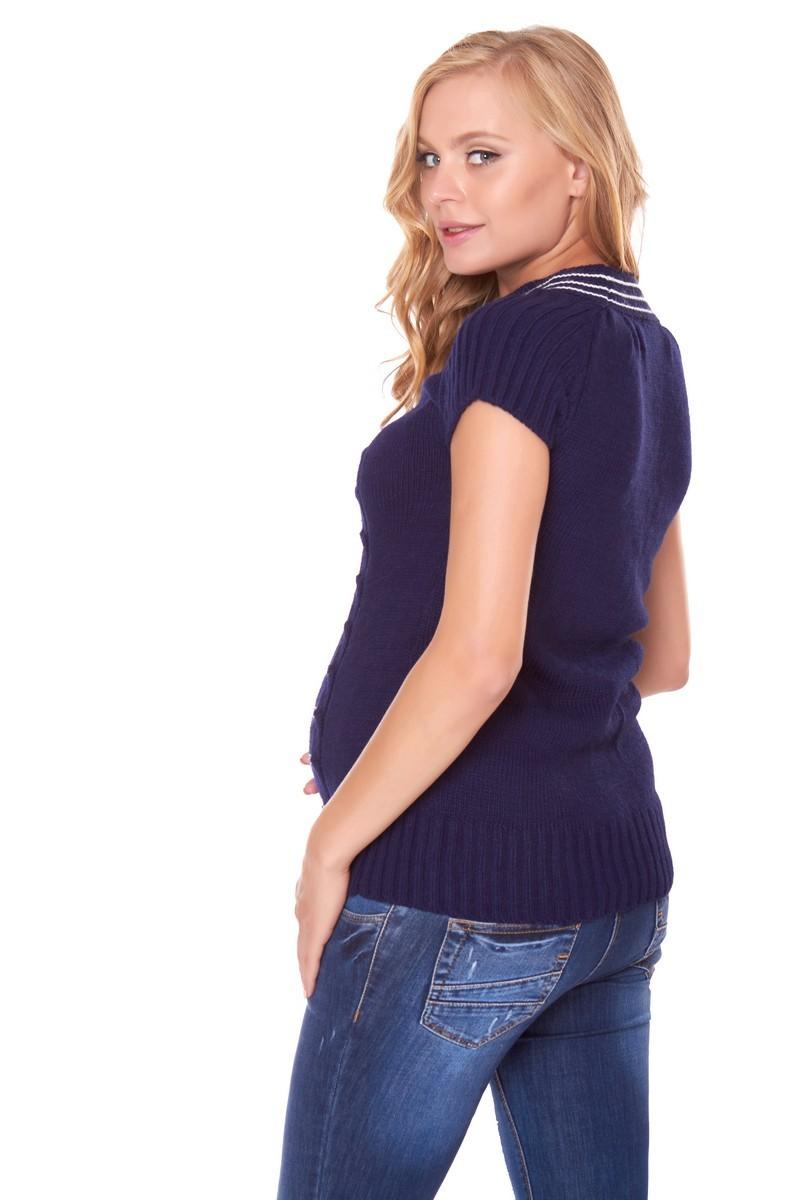 Туника для беременных 07794 синий