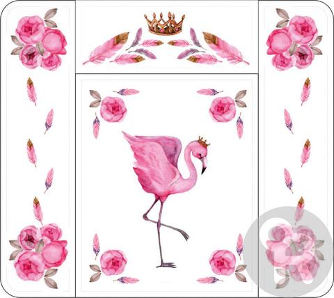 Пеленальный матрасик Топотушки Розовый Фламинго 82х73 см