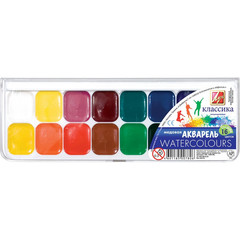 Акварельные краски Луч Классика медовые 16 цветов