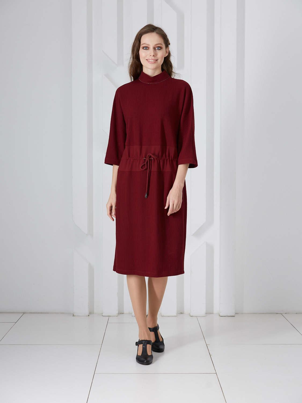 Платье plt-51774f/коричнево-малиновый