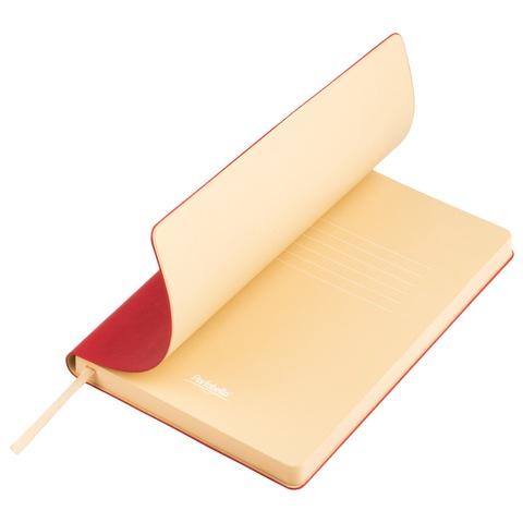 Ежедневник недатированный, Portobello Trend, Latte NEW, 145х210, 256 стр, красный/бежевый