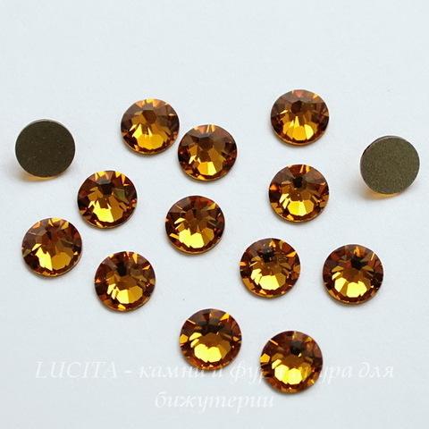 2058 Стразы Сваровски холодной фиксации Topaz ss12 (3,0-3,2 мм), 12 штук