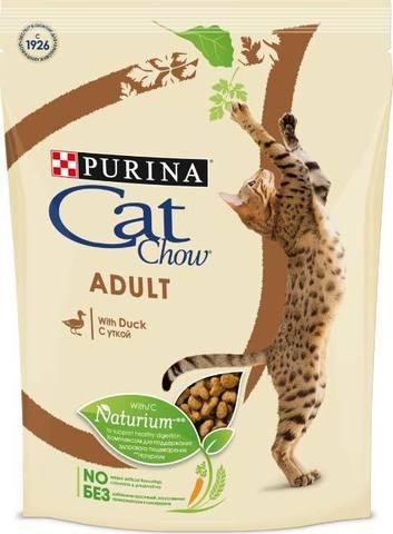 15 кг. PURINA CAT CHOW Сухой корм для взрослых кошек с уткой Adult Duck