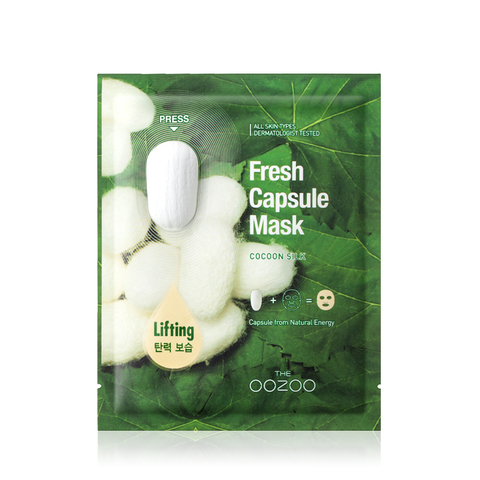 THE OOZOO Маска с капсулой-активатором с экстрактом шелка Fresh Capsule Mask Cocoon Silk
