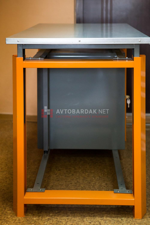Тумба с 4 выдвижными ящиками для усиленного верстака. Серия ТВК.