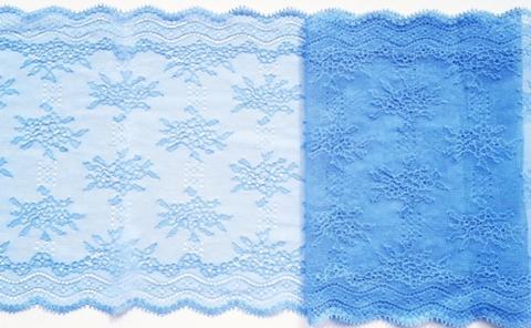 Эластичное кружево,ОПТ,  23см, голубое, (Арт: EK-1067), м