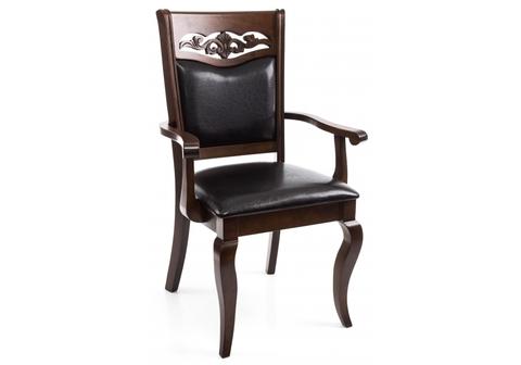 Стул деревянный кухонный, обеденный, для гостиной Кресло Drage cappuccino 63*63*96 Cappuccino /Черный кожзам