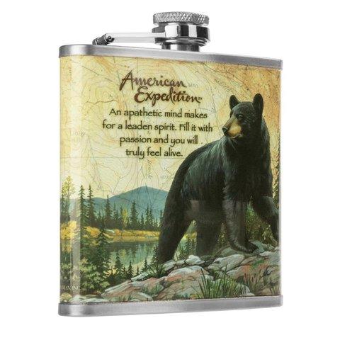 Фляжка Helios Медведь 210 мл А03-1