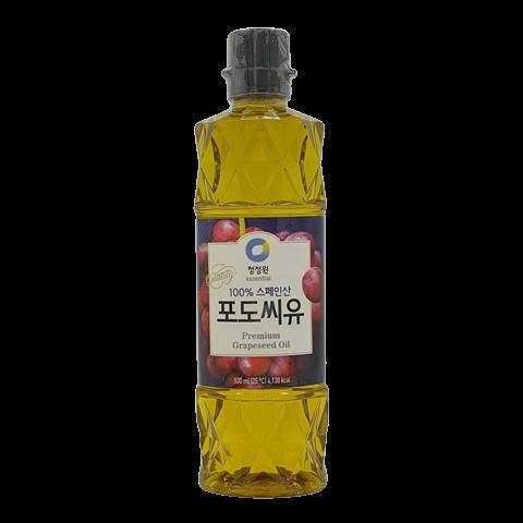 Масло из виноградной косточки рафинированное Premium Grapeseed Oil DAESANG, 500 мл