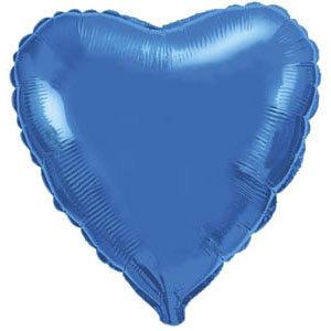 Фольгированный шар Сердце BLUE 18