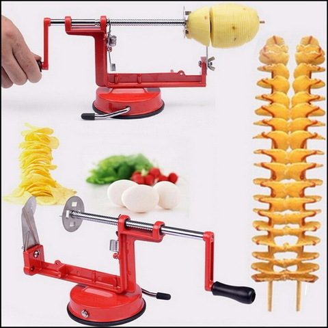 Универсальная машинка для чистки и нарезки овощей и фруктов Spiral Potato Chips