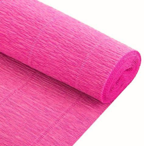 Бумага гофрированная, цвет 954 розовый, 140г, 50х250 см, Cartotecnica Rossi (Италия)