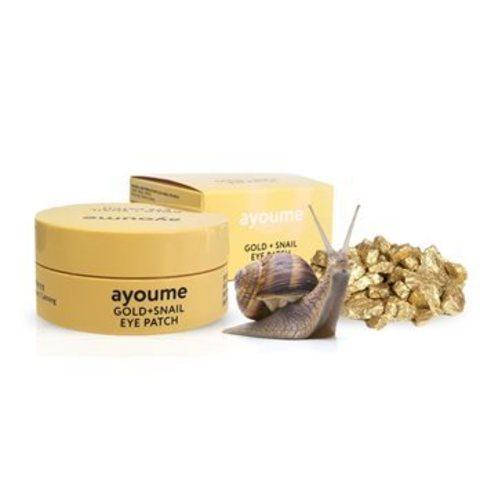 AYOUME Gold + Snail Eye Patch патчи для глаз омолаживающие с золотом и улиточным муцином