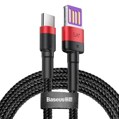 Кабель Baseus Cafule HW Quick Charging Data cable USB Double-sided Blind Interpolation For Type-C 40W 1m Red black