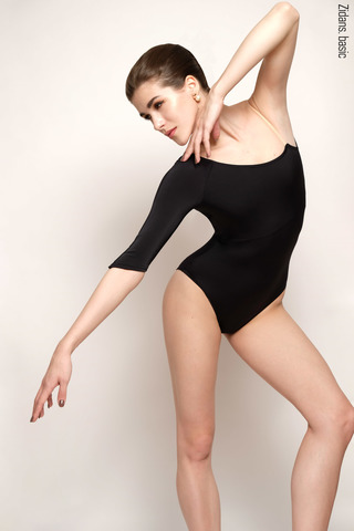 1 Sleeve 1 Strap leotard basic | black