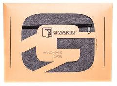Светлый горизонтальный чехол на молнии Gmakin для Macbook