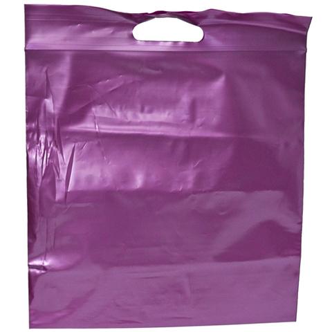 Пакеты Зип лок с вырубной ручкой 35 х 35 - (100) фиолетовый металлик