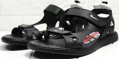 Элегантные босоножки сандалии кожаные мужские Nike 40-3 Leather Black.