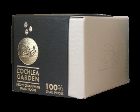 Ночной крем для лица с улиточным секретом муцином Cochlea Garden