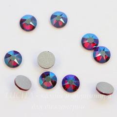 2088 Стразы Сваровски холодной фиксации Siam Shimmer ss12 (3,0-3,2 мм), 10 штук