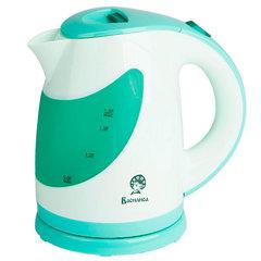 Чайник электрический 1,8л ВАСИЛИСА Т25-2200 белый с зеленым