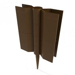 Соединительный элемент для Еврогрядки, шарнирный с колышком,h-15см., коричневый