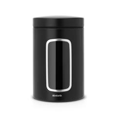 Контейнер для сыпучих продуктов с окном (1,4 л), Черный матовый