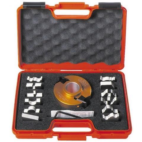 Комплект фрезы насадной F=30 D=100 (алюм.) 7 ножей SP +7 огранич. (кейс)