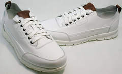 Белые кроссовки для повседневной носки мужские Faber 193909-3 White.
