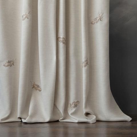 Комплект штор с вышивкой Плаза бежевый