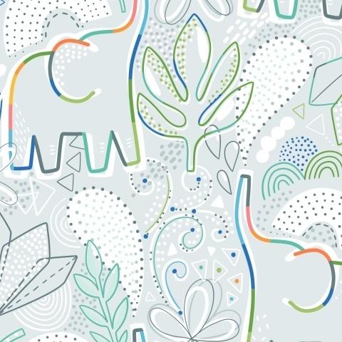 Слоники и тропические листья