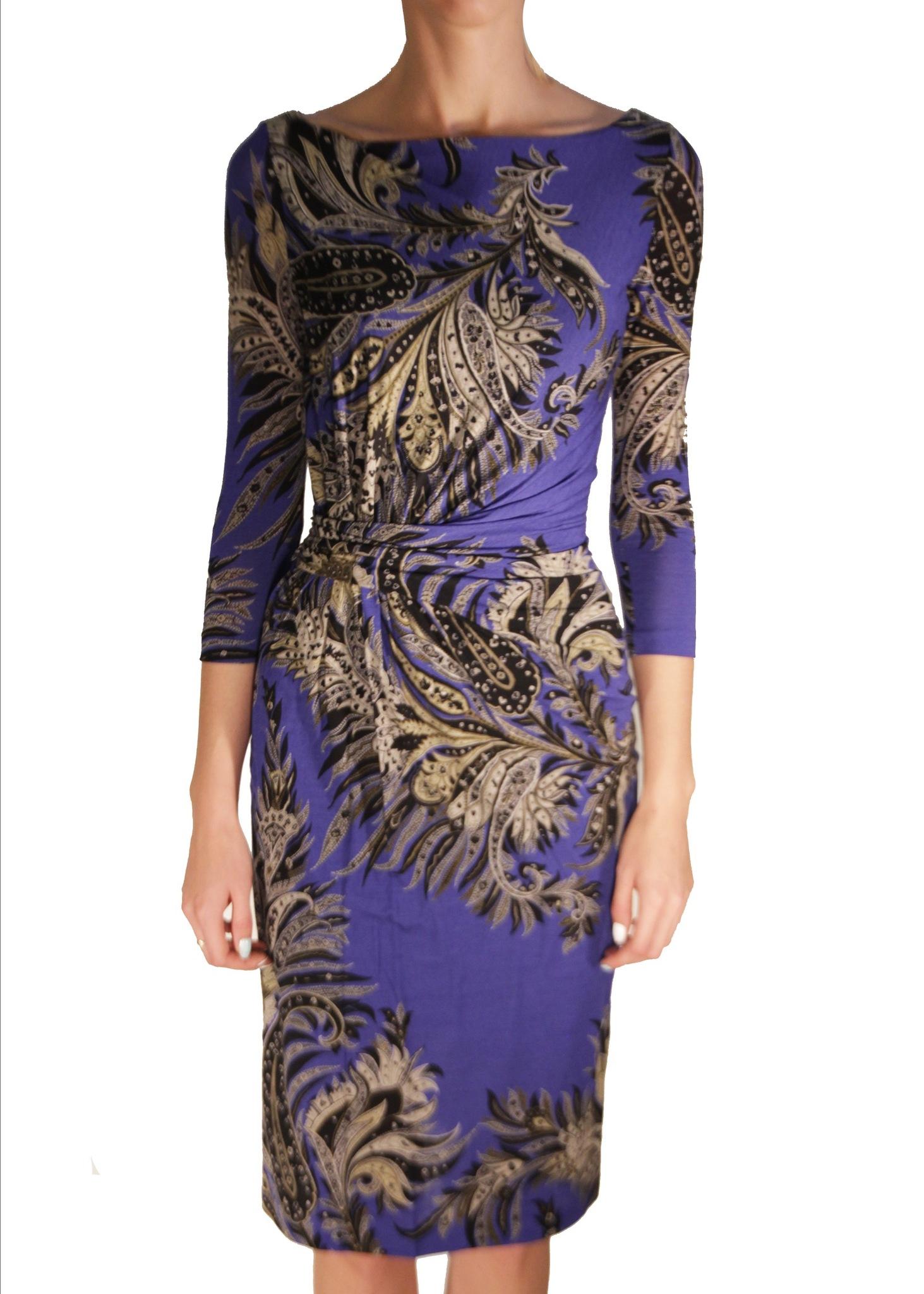 Платье из шерсти и полиамида ETRO