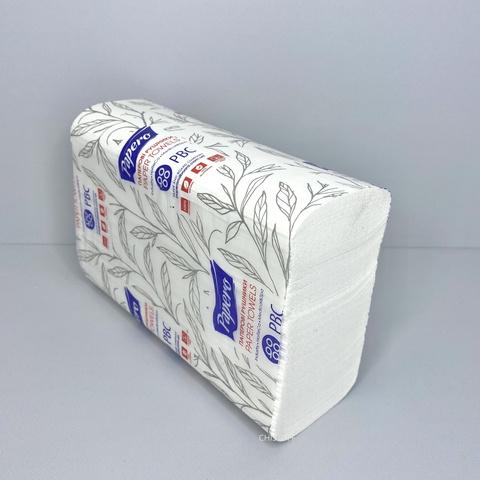 Полотенце бумажное листовое Papero Z сложения 2сл. 225х220 мм (200 л.) белое (RN007)